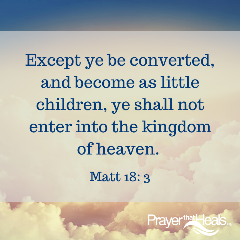 Except ye be converted