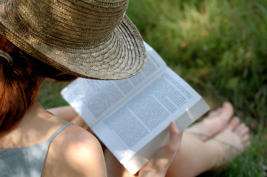 Photo of woman reading