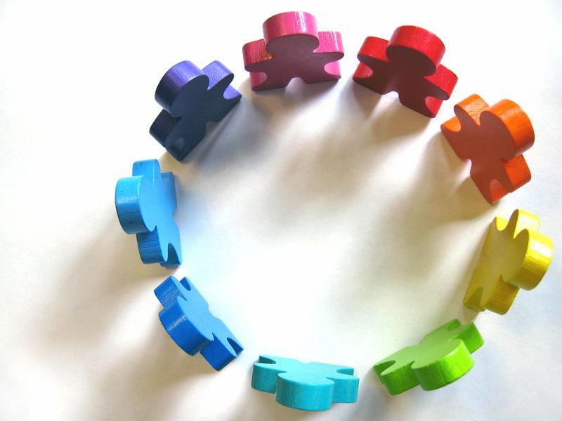Gráfico de personas en un círculo