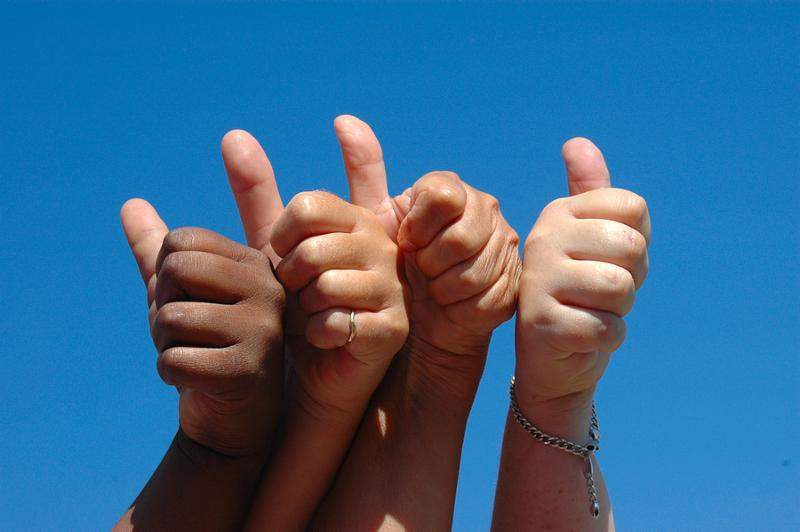 Photo of thumbs up