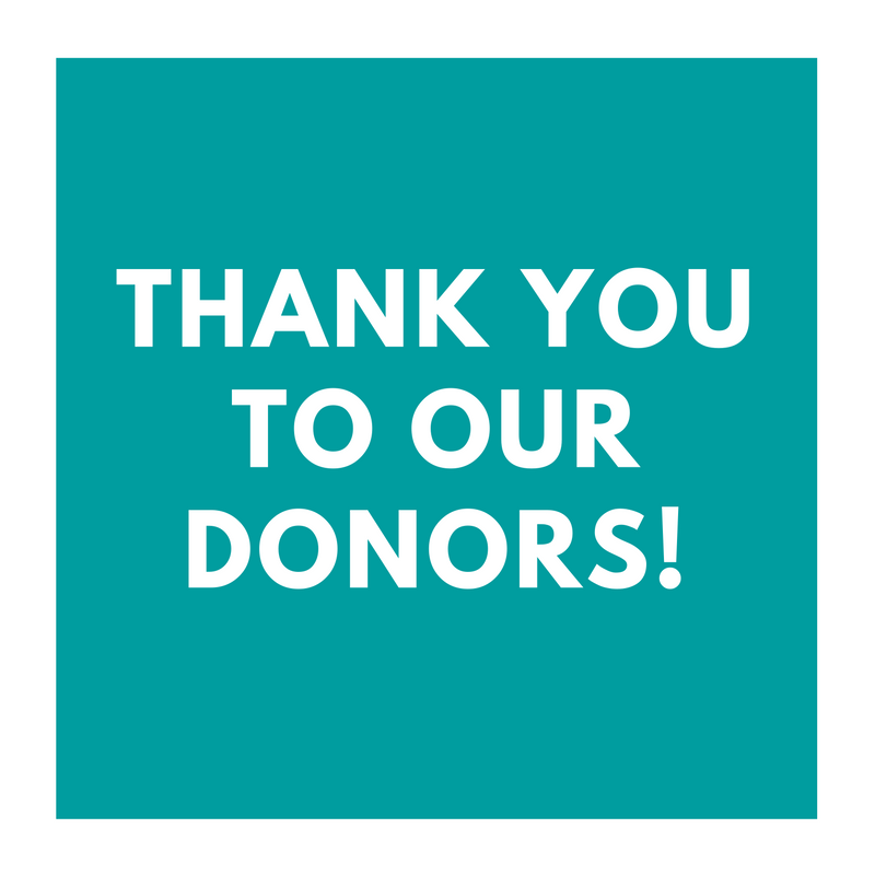 Thank you, Donors