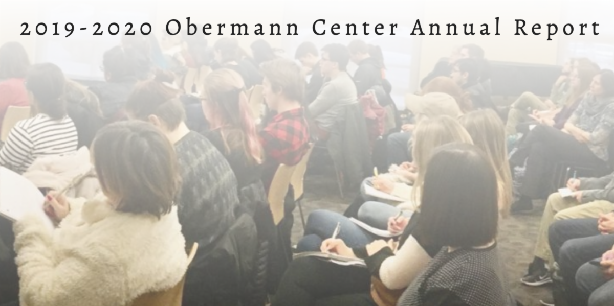 Community members at Obermann event
