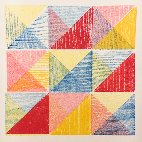 Multi-colored quilt graphic image