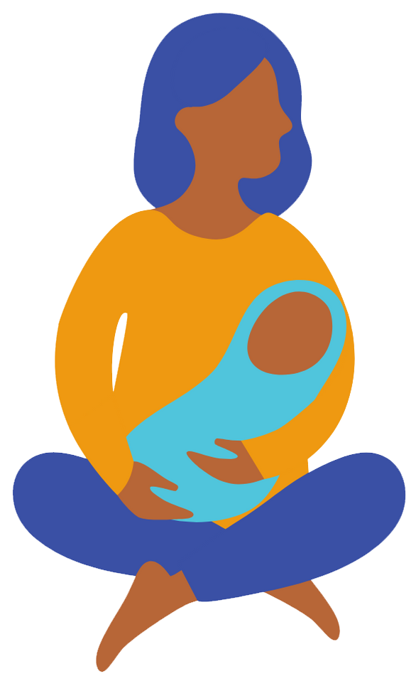 Illustration of mother with infant