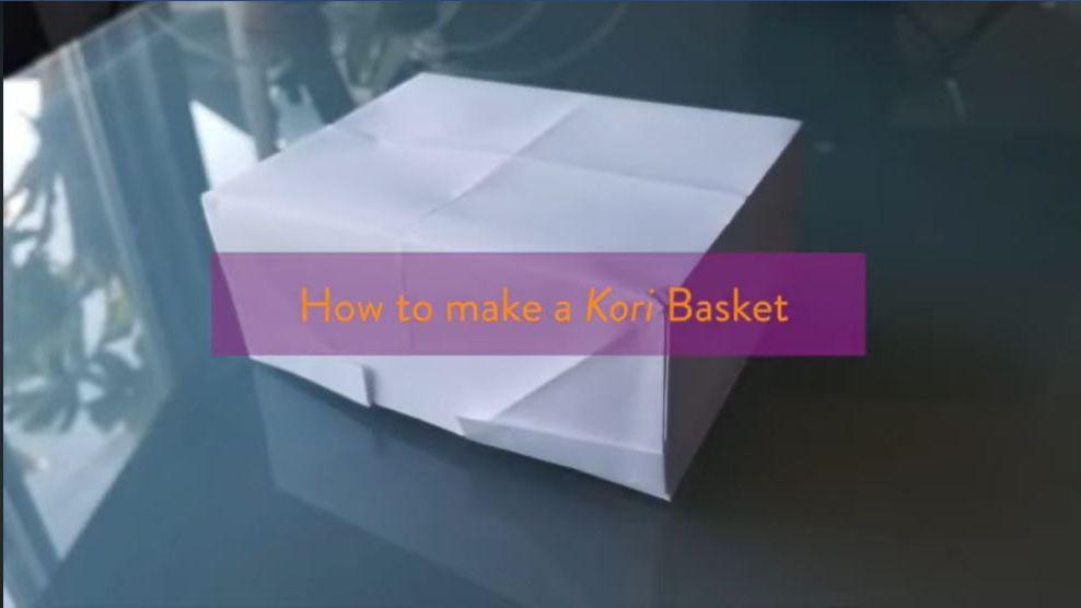 origami kori basket tutorial video