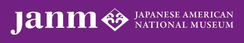 JANM horizontal logo - white on purple