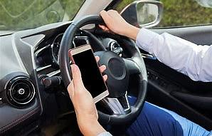 Using phone while driving