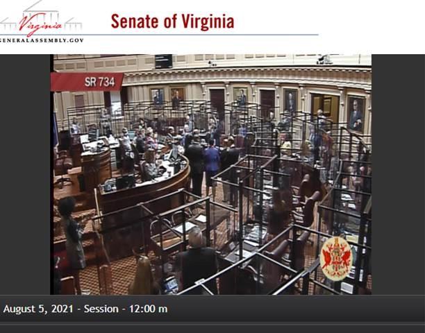 VA Senate C-19 Regulation