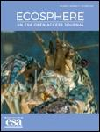 Front cover of the November 2018 issue of the Ecosphere journal