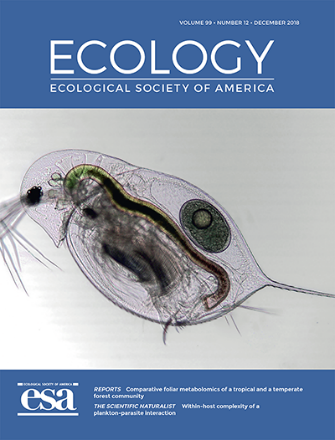 Cover of the December 2018 issue of the Ecology journal