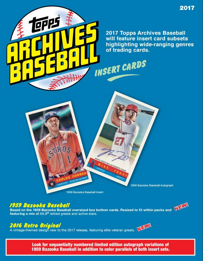 Brand New At Mikes 2017 Topps Archives Mlb 2 Autos Box