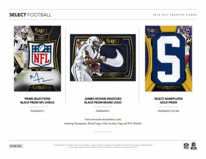adc8fbbd8c5 Brand New At Mike's 2016 PANINI SELECT FOOTBALL 2 Autos & 1 Relic/Box!
