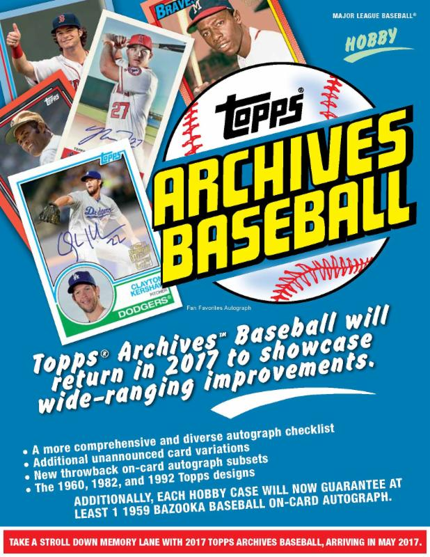 Brand New At Mikes 2017 Topps Archives Mlb 2 Autos Box Bonus Offer