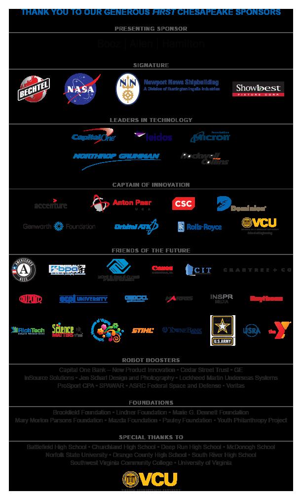 Sept 2016 sponsors list
