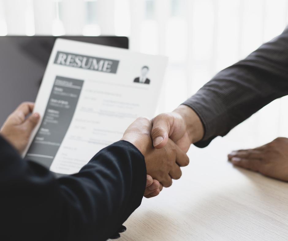 Shaken Hands - resume in background
