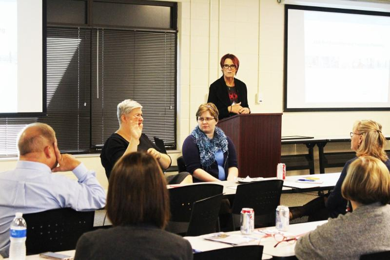 People speaking at forum