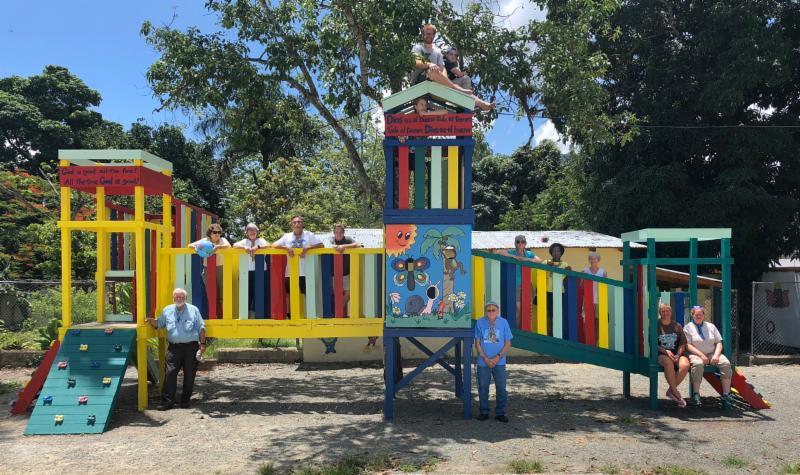 Playground group photo