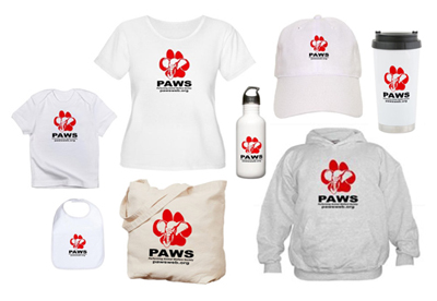 Click here to visit PAWS  CafePress Gift Shop.