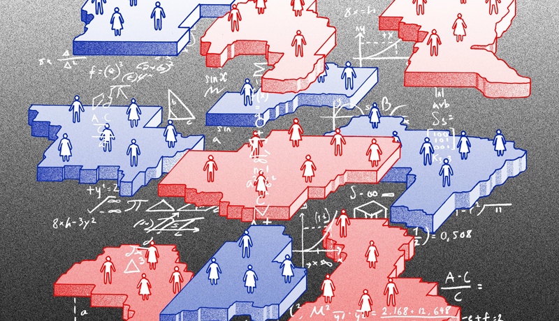 Gerrymandering illustration from the New York Times