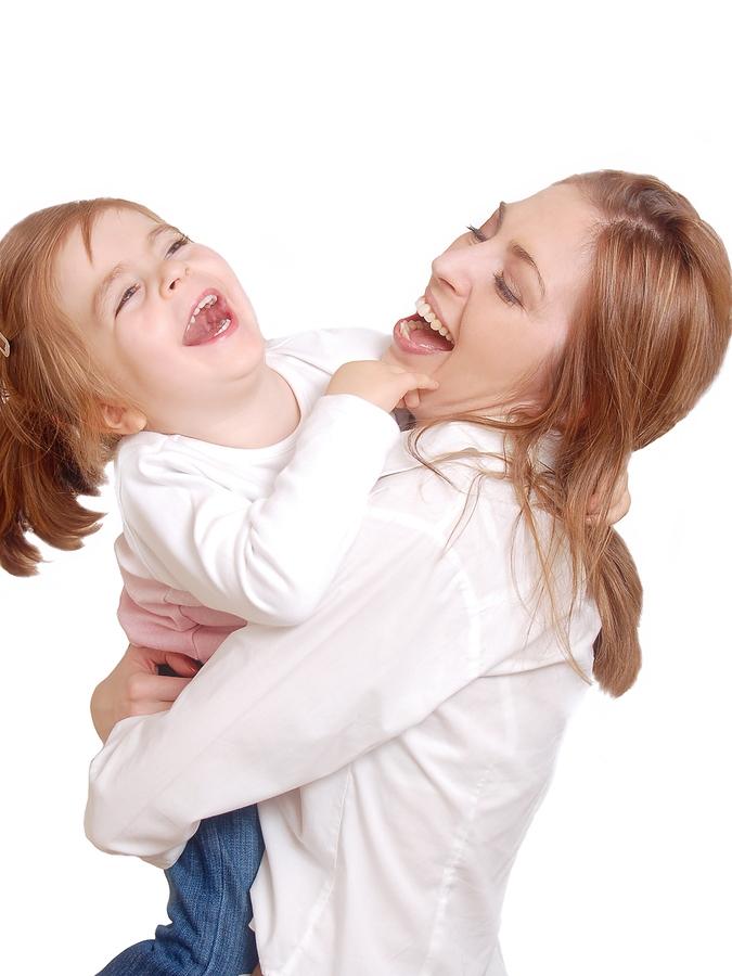 mom&daughterlaughing