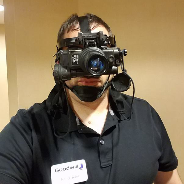 Man in Night Vision Goggles