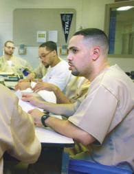 A Yale Prison Education Initiative class in session.