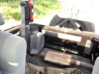 Badger Burrow Muffler in Jeep