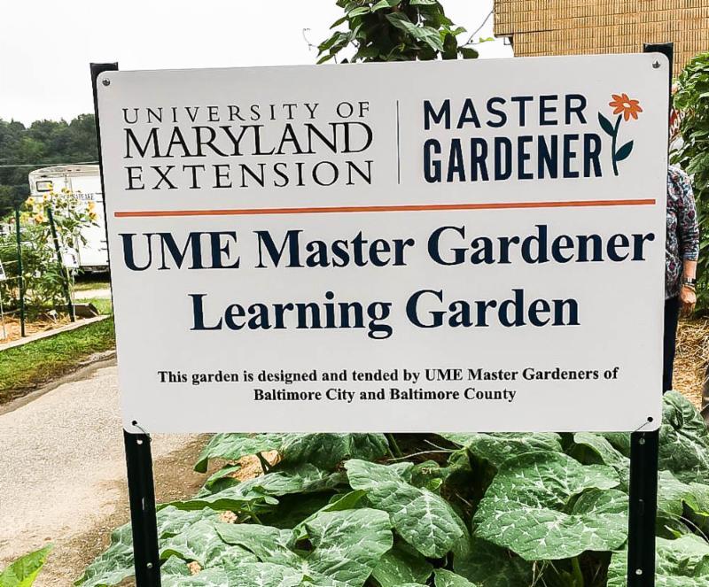 Master Gardener learning garden at the Maryland State Fair