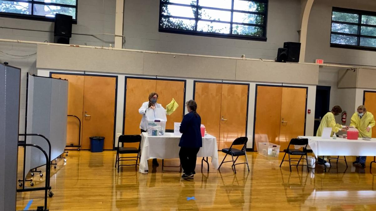 Vaccine Clinic in a gym