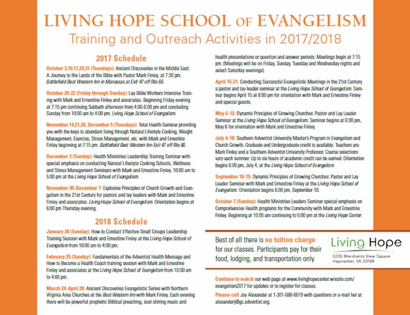 e-News from your Manassas Church - September 02, 2017