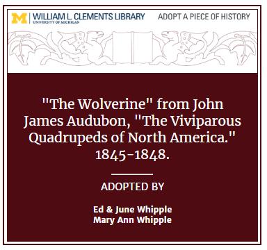 "Audubon's ""The Wolverine"" Virtual Bookplate"