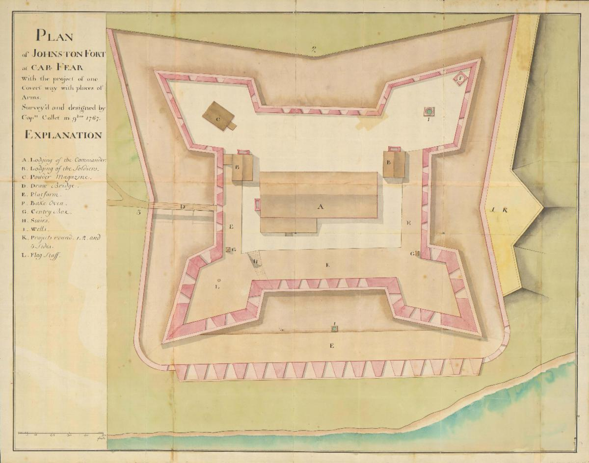 Plan of Johnston Fort