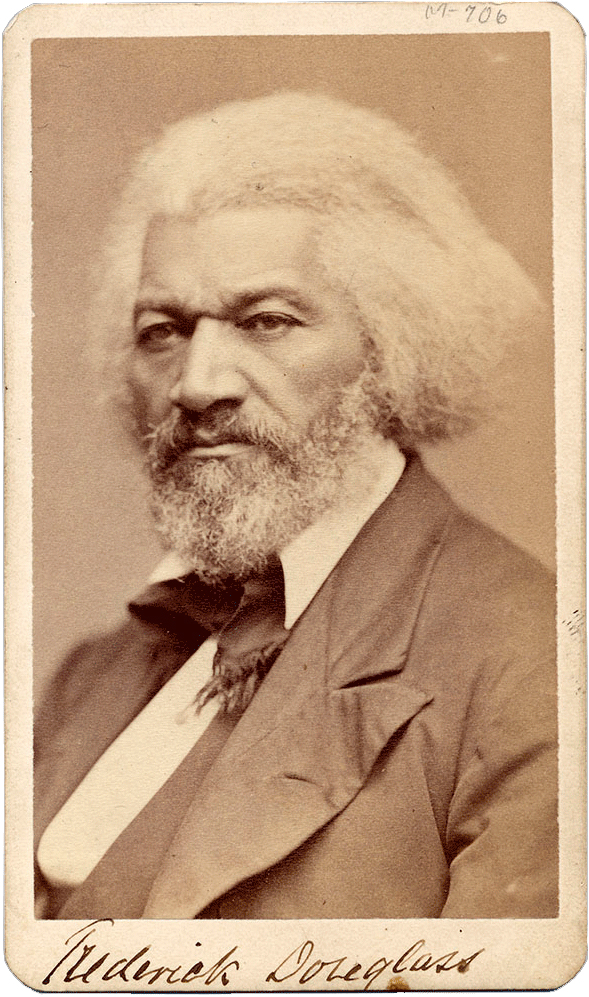 Photograph of Frederick Douglass with his signature