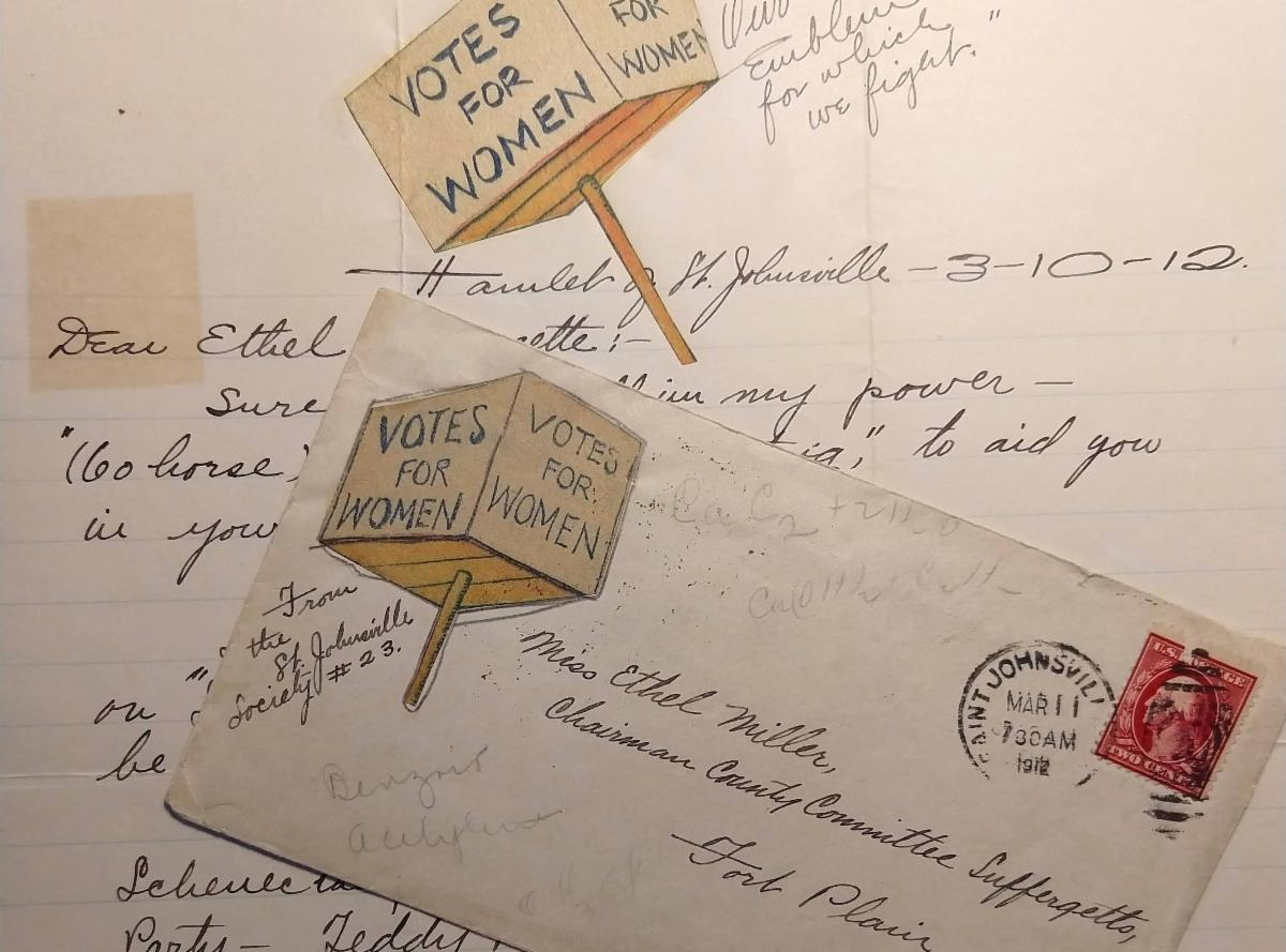 A selection from the Women's Suffrage letterhead collection