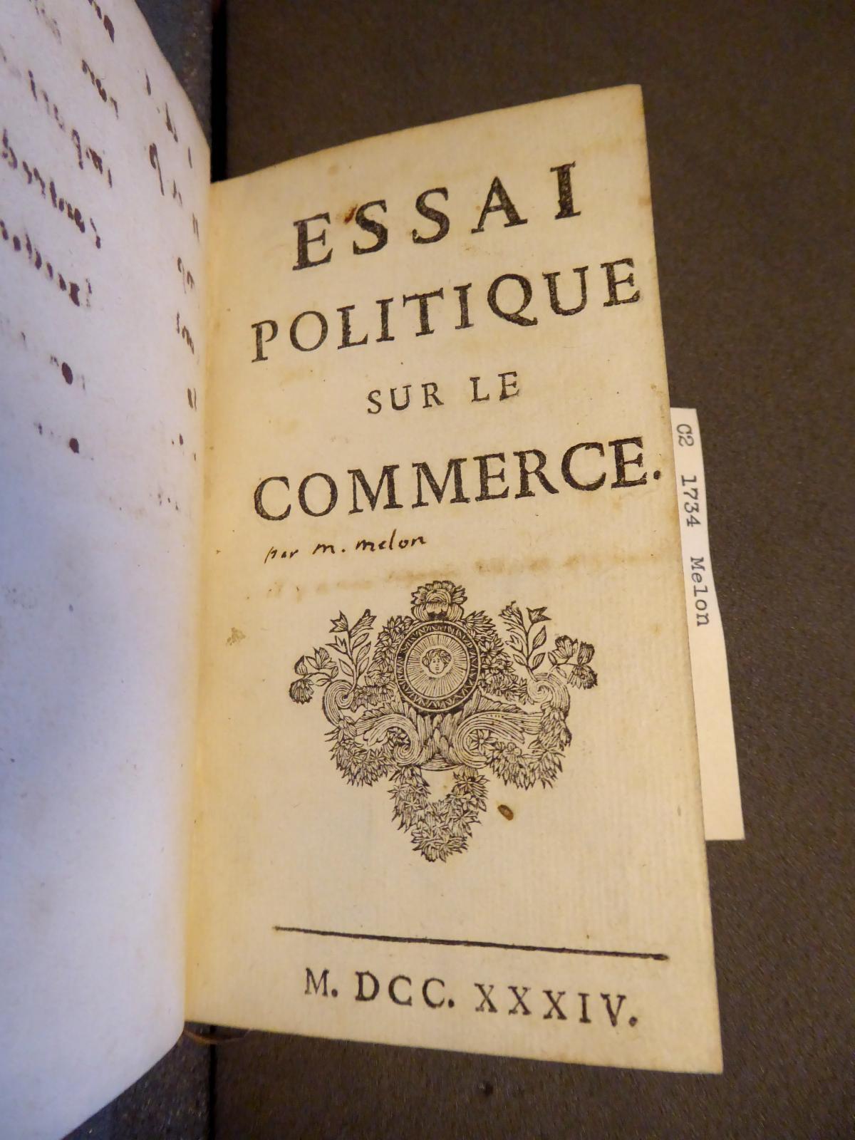 Title Page - Essai Politique Sur Le Commerce