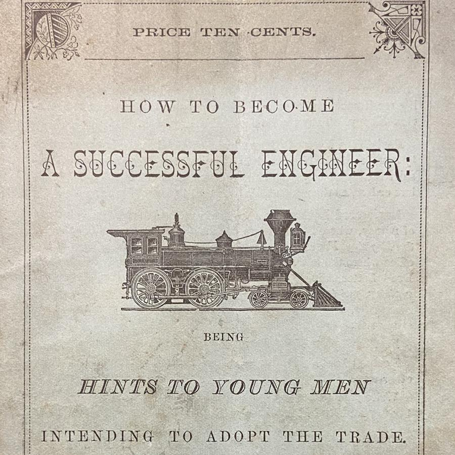 Book Cover detail with image of a steam train.