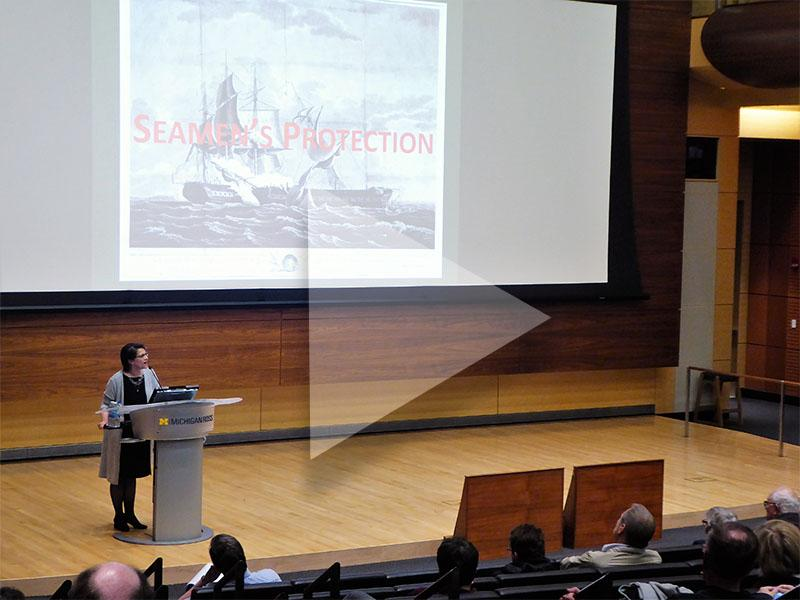 Photo from Martha Jones' lecture
