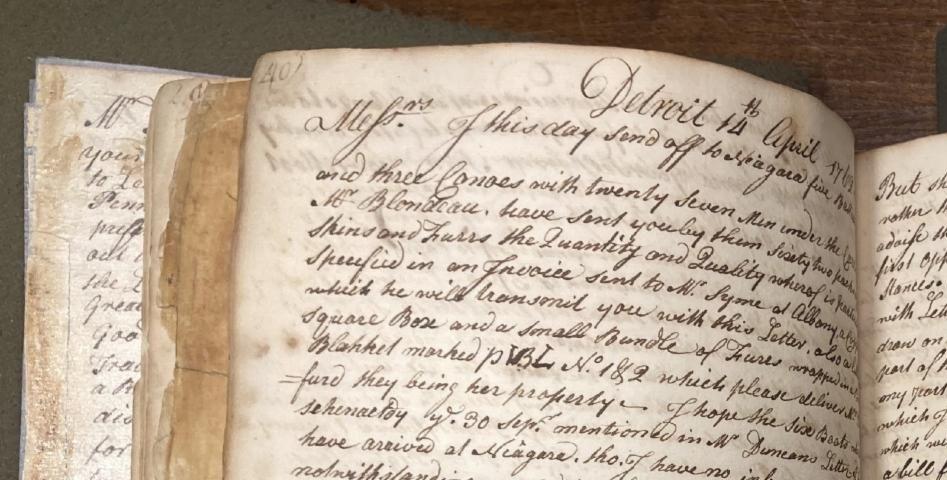 Manuscript letter book