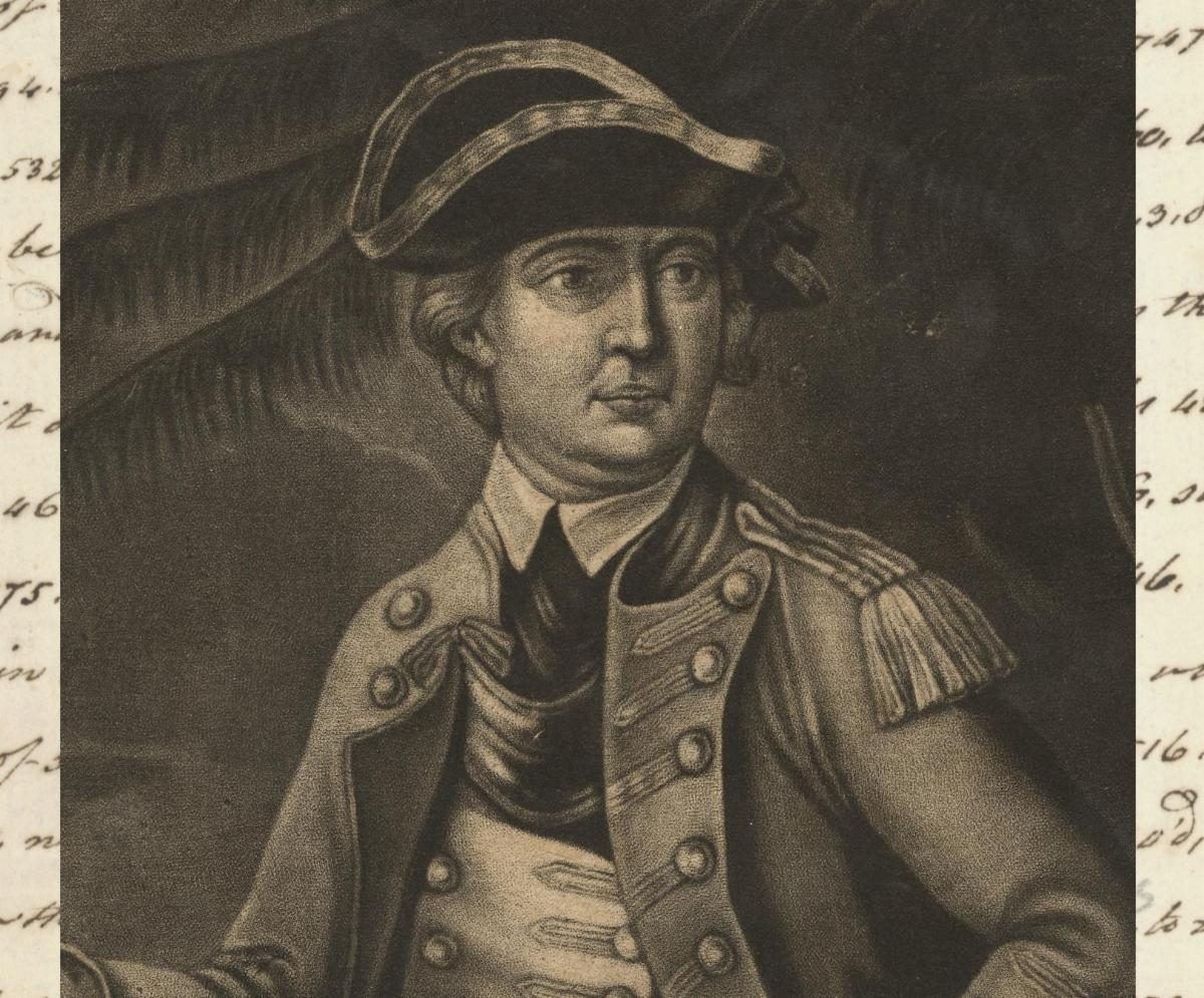 Portrait of Benedict Arnold in uniform