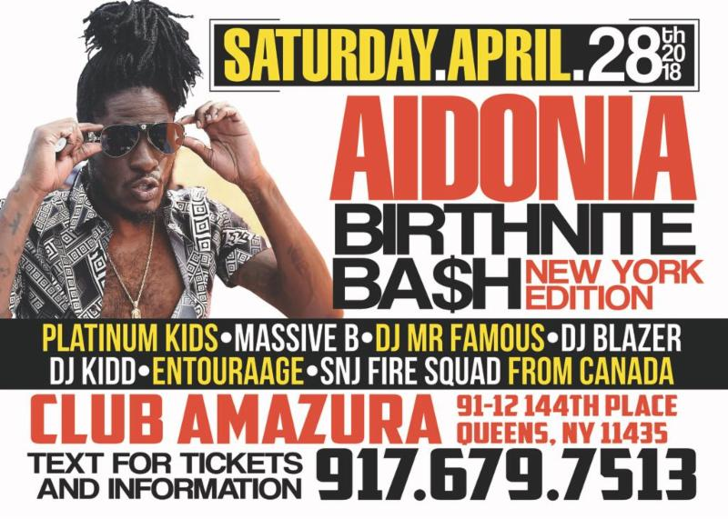 Aidonia Return To New York To Celebrate His Birthday and a Successful 2017 10