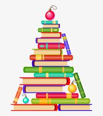 Christmas book tree stock clip art December 2020