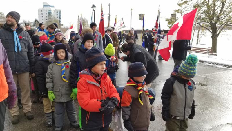 Preparing for the Remembrance Day in Barrie