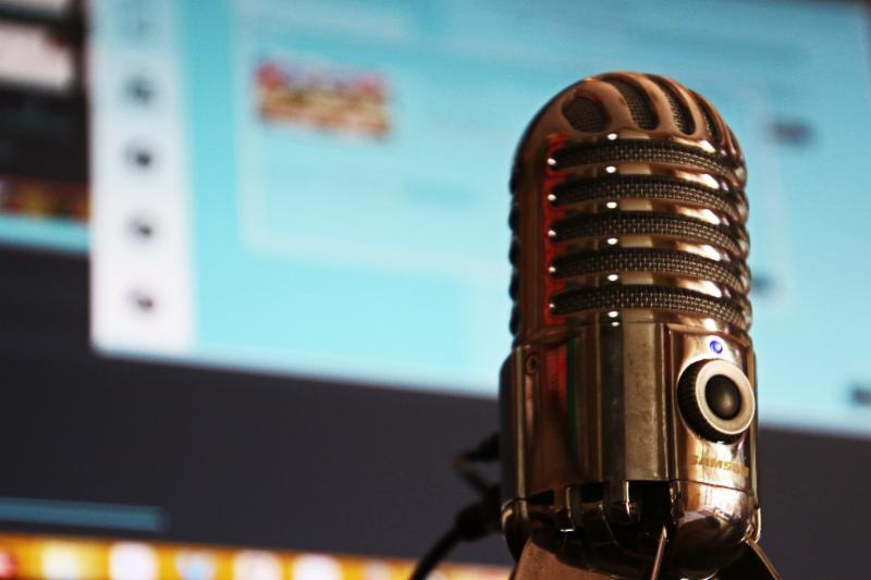 podcast mic Keller Anne Ruble Good and Social