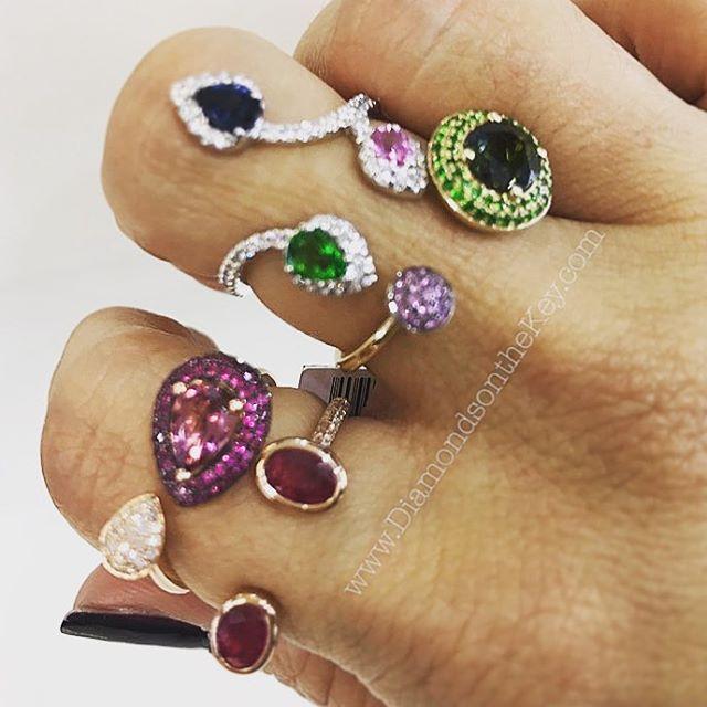Color my world    #DiamondsontheKey #MiamiJeweler #DOTK #Ruby #Emerald #Sapphire #SemipreciousStones #Semipreciousrings #Rainbow #Birthday #Inspiration #BirthdayInspiration #MiamiLife  Email ChristinaTermine@aol.com for det