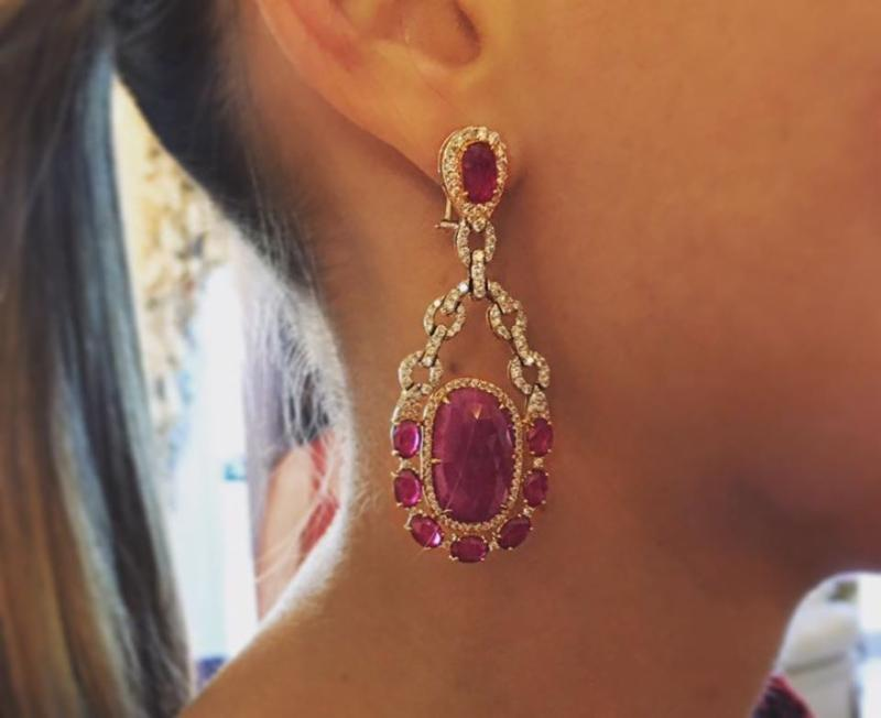 Rubies and Diamonds set in 18k Yellow Gold