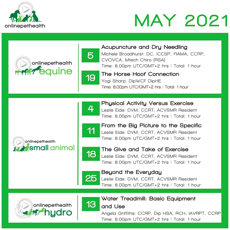 Online Pet Health - May 2021 line-up