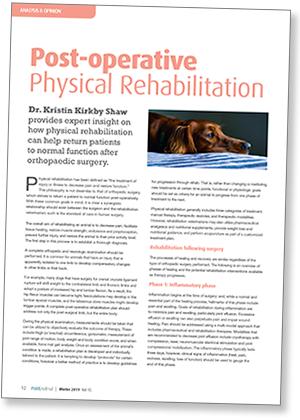 Post-operative physical rehabilitation article