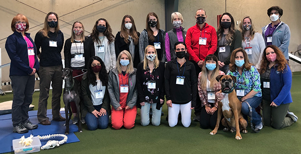 Introduction to Canine Rehabilitation class photo April 10, 2021