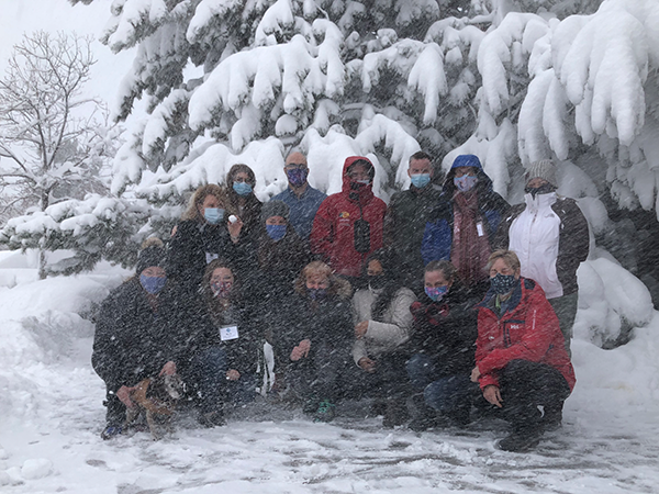 Clinical Skills group March 15, 2021 with even more snow