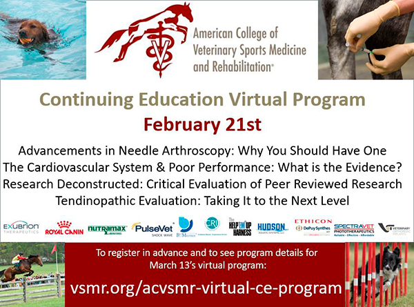 ACVSMR CE Virtual Program, February 21, 2021